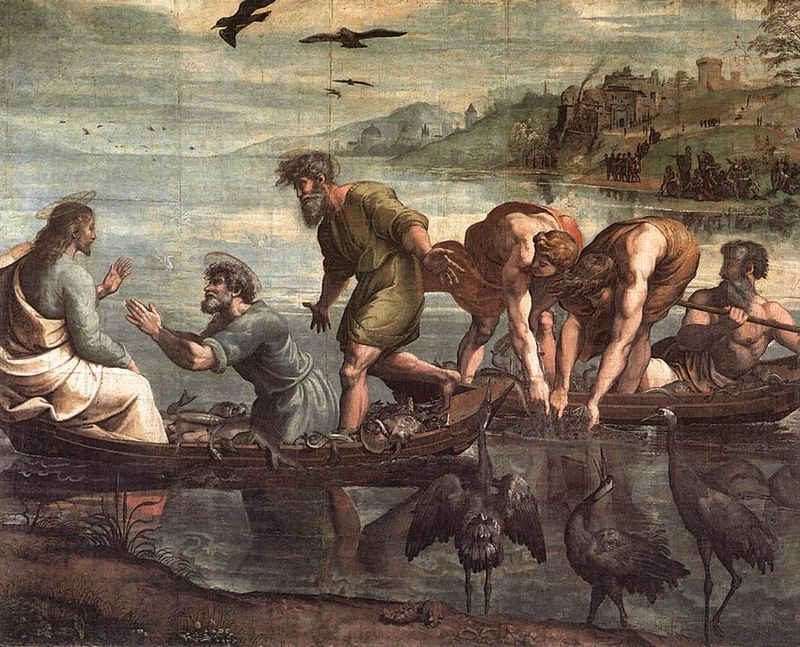 Raphael,-The-Miraculous-Draught-of-Fishes,-1515